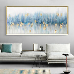 YA1209 Hand-painted abstract Gold foil oil painting Home decora unframed