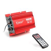 Mini 500W Auto HiFi 2CH Amplifier Verstärker USB MP3 FM & Fernbedienung & Kabel
