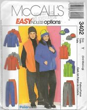 McCALL/'S #3029-MENS or LADIES JACKET /& VEST PATTERN SM-XXL FF GREAT FOR FLEECE