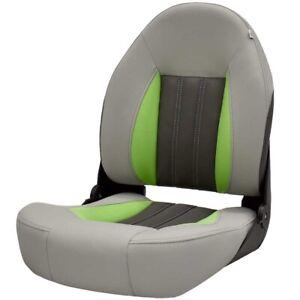 Lowe Boat Folding Fishing Seat | Tempress Probax Gray Charcoal Green