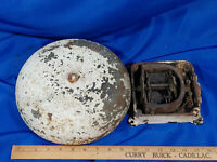 Antique CAST IRON LARGE HEAVY VTG FIRE ALARM SCHOOL BELL BOXING ELECTRIC OLD