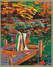 """GOLDEN  POND  Paint by Number Kit; 11"""" x 14"""""""