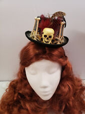 Voodoo Witch Doctor Mini Top Hat on a Headband Adult Size