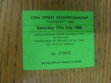 19/07/1986 Biglietto da Golf: 115th Open Championship [a Turnberry] verde. grazie