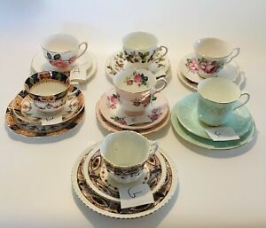 Vintage Trio's Tea Cup Tea Saucer & Tea Plate Serving Tableware Bone China
