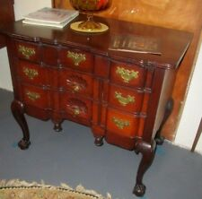 Chippendale Antique Mahogany Block- Front Lowboy Ball & Claw Exc. Quality !