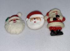 Santa Claus Pins Lot Of 3