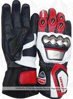 DUCATI CORSE Motorbike Racing MotoGP Motorbike  Cowhide Leather Racing Gloves