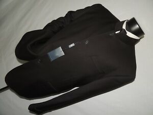 NWT West End men's Black Nehru jacket coat 46 R NEW!