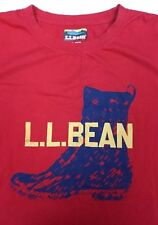 L.L. Bean Men's Red Bean Boot T-Shirt Size XL Extra Large Graphic T