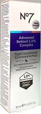Boots No 7 No7 Advanced Retinol 1.5% Complex Night Concentrate 1oz