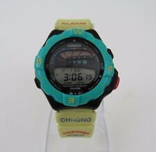 Vintage Casio 90s Quartz Digital Surfing Timer Silicone Band Wrist Watch SUF-110
