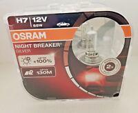 NEW OSRAM Night Breaker Silver H7 Car Headlight Bulbs 64210NBS-HCB Duo twin 55W