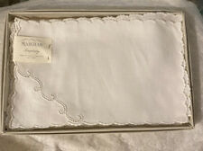 5 VTG Simplicity Marghab Madeira Embroidered Cocktail Napkins In Box