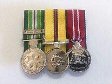 AASM 1975 (Iraq 2003) Clasp, Iraq Medal & ADM Miniature Size Replica War Medals
