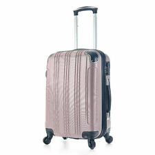 20 Inch Waterproof Spinner Luggage Travel Carry On Suitcase Rose Gold