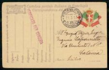 Mayfairstamps ITALY STATIONERY 1917 CARD MILITARY MAIL CENSORED wwi96625