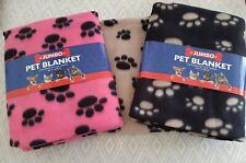 More details for 2 x large pet blanket for dog /cat soft warm fleece size 120 x 100 cm