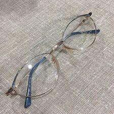 NEW true Vintage 80's Deco OPTITAL  ITALY 51 18 Blue Glasses Frames Eyeglasses
