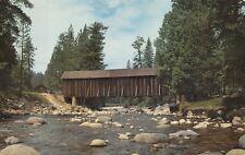 (773) Postcard of A Covered Bridge in Yosemite National Park, California
