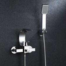 New Modern Chrome Bath Filler Hand Held Shower Faucet Bathroom Brass Mixer Taps