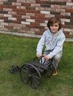 Antique 19thC Cast Iron Noise Maker Signal Cannon Iron Wheels & Carriage, NR