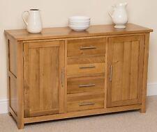 Oslo 100% Solid Oak Large Sideboard Cabinet Storage Unit Living Room Furniture