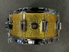 Rogers 6.5x14 Dyna-Sonic Maple Snare Drum in Gold Sparkle Lacquer