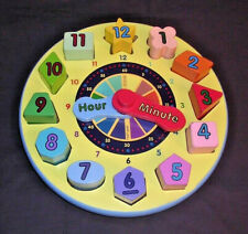 Melissa & Doug Wooden Shape Sorting Clock Learning Teaches Colors/Numbers/Time