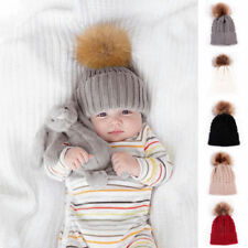 Boys' Fur Knitted Baby Caps & Hats