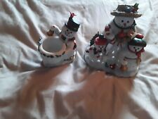 Partylite P9890 Snowbell Votive Holder & P9892 Snowbell Tealight Candle Holders