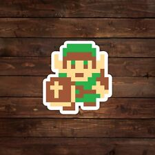 8-Bit Link with Shield Decal/Sticker