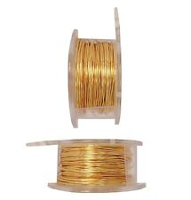 Gold Non Tarnish 24 Ga Soft Wire 10 Yards Pro-Quality Craft /Buy 2 Spools & Save