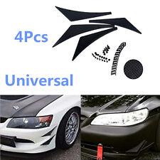 4Pcs Car Front Bumper Body Spoiler Trim Air Guide Carbon Fiber Style Decorative