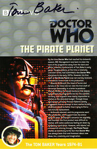 Doctor Who: THE PIRATE PLANET DVD Insert Signed (Various Autograph Options)
