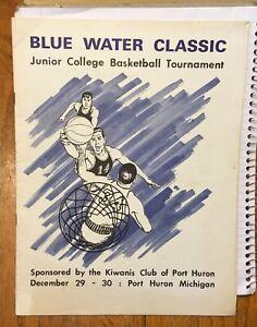 1966 BLUE WATER BASKETBALL CLASSIC JUNIOR COLLEGE SOUVENIR PROGRAM - MICHIGAN