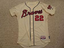 Atlanta Braves #22 Heyward 2013 Game Used Majestic Jersey MLB Authenticated