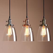 Vintage Industrielle Glocke Klarglas Leuchtmittel Loft Bar Hanging Hängeleuchte