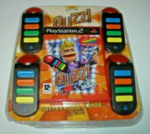 Buzz! Pop Music 40 Principales + Pulsadores PS2 (PAL España precintado)