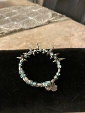 Alex and Ani Spike of Confidence Azure Blue Beaded Bracelet