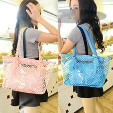 Women Transparent PVC Shoulder Bag Summer Clear Jelly Handbag Purse Beach Tote