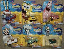 Hot Wheels 2020 Spongebob Character Cars set 6 Sandy Squidward Patrick Krabs lot