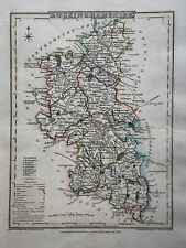 1804 Buckinghamshire Original Antique Hand Coloured County Map by Cole & Roper