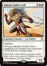 1x RAKSHA GOLDEN CUB - Cat - Commander - MTG - NM  Magic the Gathering