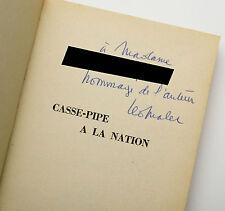 LEO MALET NOUVEAUX MYSTERES DE PARIS T12 CASSE PIPE NATION ED ORIGINALE DEDICACE