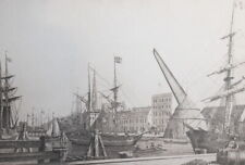 F. H. Dethleff,  Vintage German cityscape print