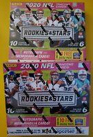 1 Box - 2020 Rookies & Stars Longevity Mega Box. 1 Auto & 2 Memorabilia Per Box