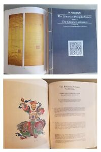 Sotheby's The Library of Philip Robinson - Part 2 - The Chinese Collection 1988