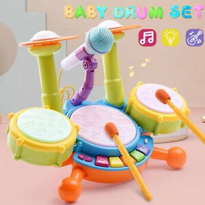 Kids Drum Kit Baby Drum Set Baby Musical Instruments for Toddlers Nursery Drum
