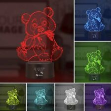 Animal panda Night Light 3D Lamp LED Touch Table Lamp Brithday Xmas Gift 7Color